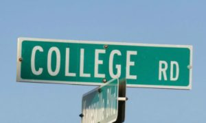 College Road sign