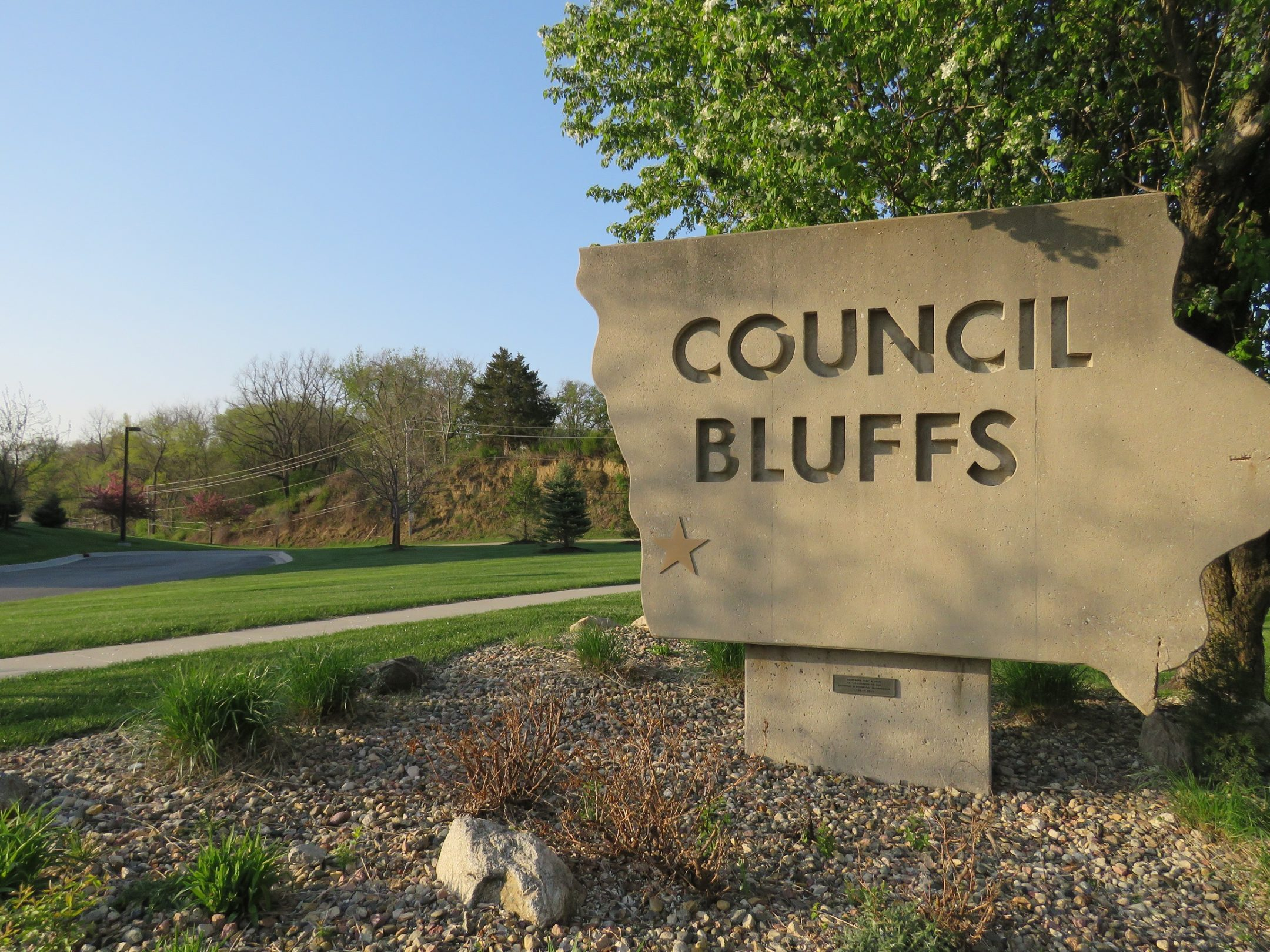 City of Council Bluffs sign