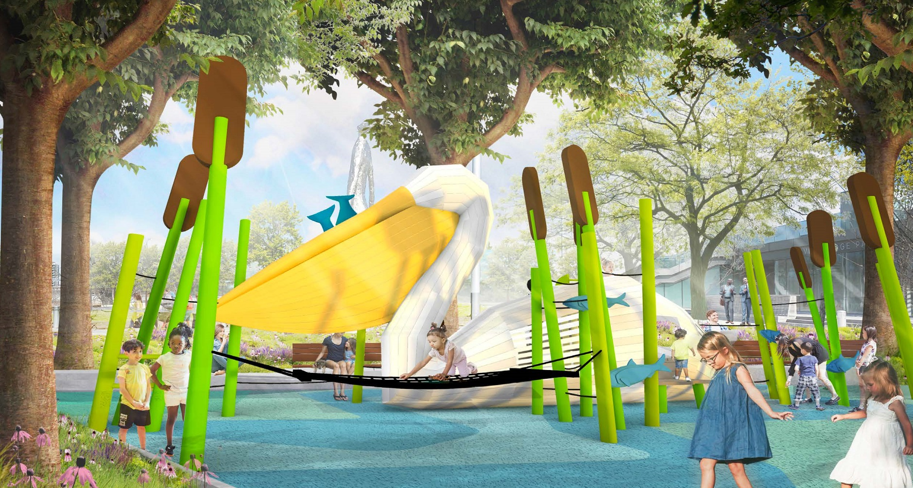 Belle's Play Garden Rendering