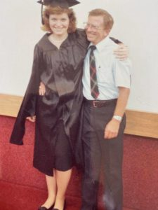 Brenda Mainwaring and her father, James Sutherland