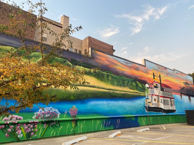 Riverboat on the Missouri mural