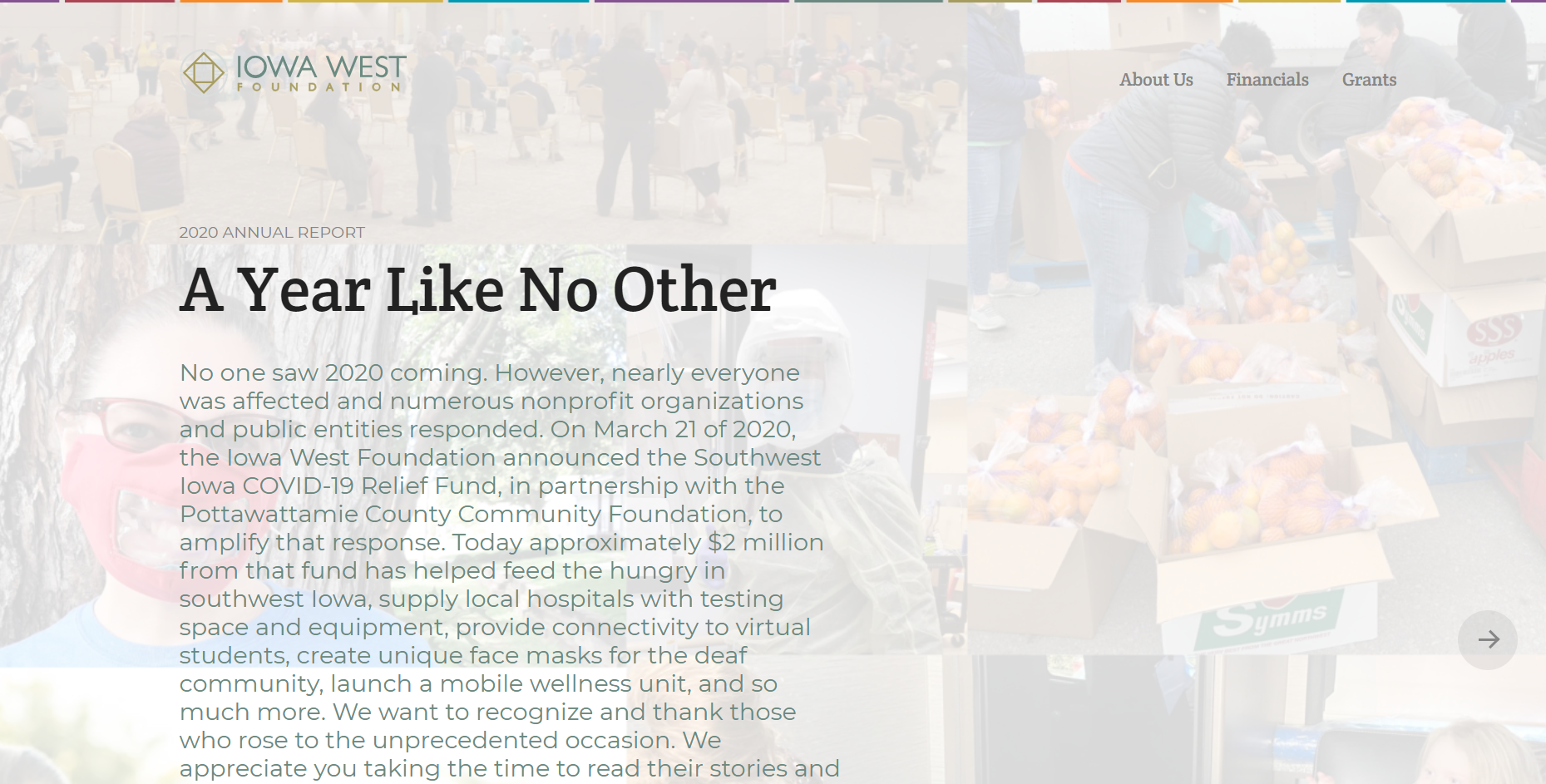 Annual Report Homepage
